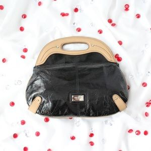 "Bags - Nine West Black Patent ""Leather"" Hand Bag/Purse"